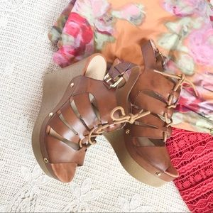 {Guess} Lace Up Wedge Sandal